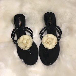 Chanel camelia sandals